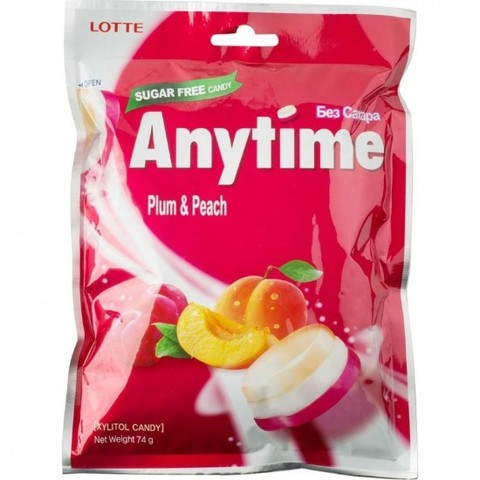 Леденцы Lotte AnyTime Plum Peach 74 гр