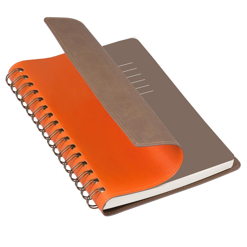 Ежедневник недатированный, Portobello Trend, Vista, 145х210, 256 стр, оранжевый/коричневый (т.-корчневый форзац)