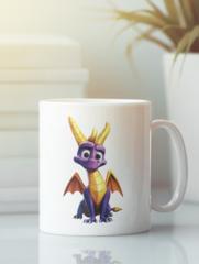 Кружка с изображением Дракон (Dragon) белая 001