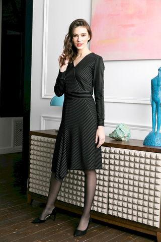 Фото платье с асимметричной юбкой и длинными рукавами - Платье З470-074 (1)