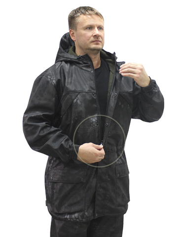 Костюм Тайга-Demi тк.Polorfleece цв.Питон чёрный