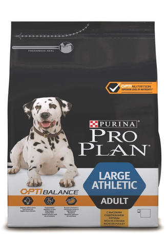 Сухой корм Purina Pro Plan для взрослых собак крупных пород с атлетическим телосложением, курица с рисом