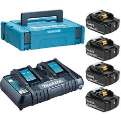 Набор аккумуляторный Makita 199591-7 (DC18RD + 4х BL1850B)