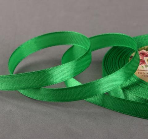 Лента атласная,цвет зелёный, 10мм*23±1м
