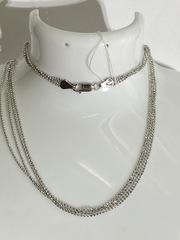 Перлина 4-рядная (серебряная цепочка)