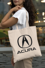 Женская сумка-шоппер с принтом Акура (Acura) бежевая 002