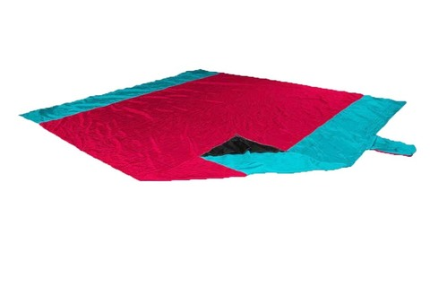 Картинка пляжное покрывало Ticket to the Moon Beach Blanket Red/Turquoise - 1
