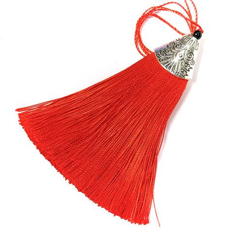 Кисточка с наконечником 8 см, красный