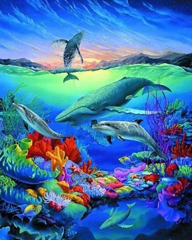 Алмазная Мозаика 40x50 Яркий подводный мир (арт. VR1004)