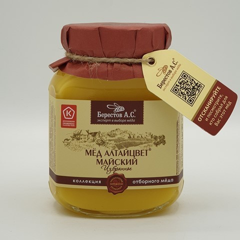 Мёд натуральный Алтайцвет Майский БЕРЕСТОВ А.С., 500 гр