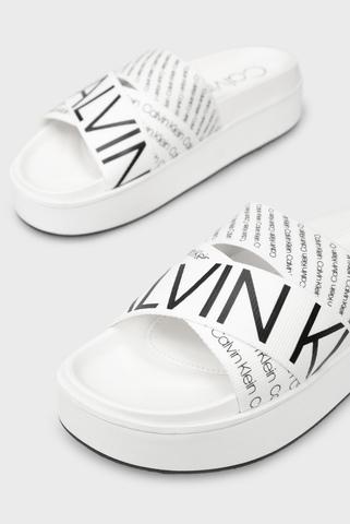 Женские белые слайдеры JEAMA Calvin Klein