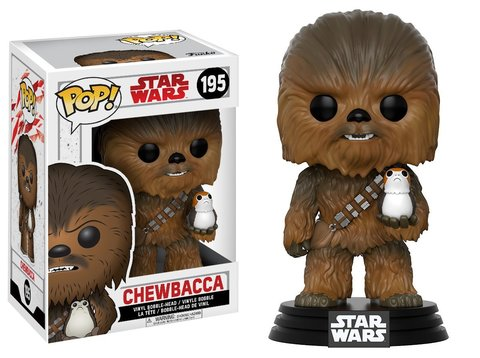 Фигурка Funko POP! Bobble: Star Wars: The Last Jedi: Chewbacca w/ Porg 14748