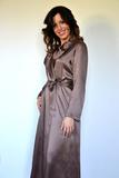 Длинный шелковый халат B&B