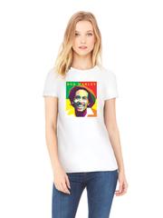 Футболка с принтом Боб Марли (Bob Marley) белого w009