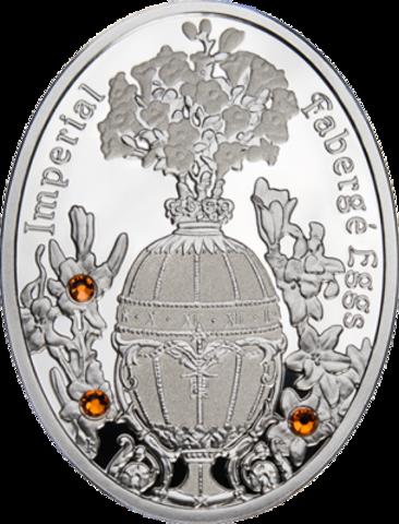 1 доллар. Яйцо Букет лилий - Императорские яйца Фаберже. Ниуэ. 2012 г.