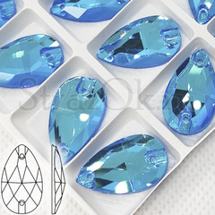 Неоновые стразы пришивные купить оптом Neon Blue AB, Drope недорого