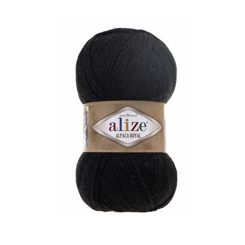 Пряжа Alize Alpaca Royal черный 60