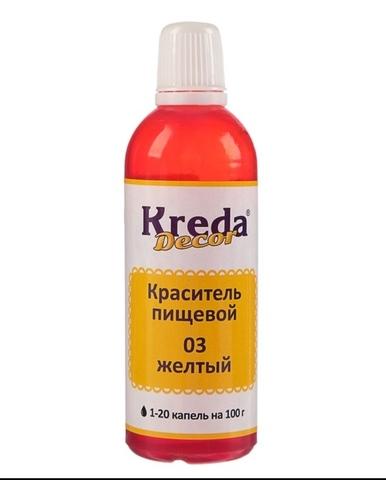 Краситель гелевый водорастворимый Kreda DECOR жёлтый, 90г