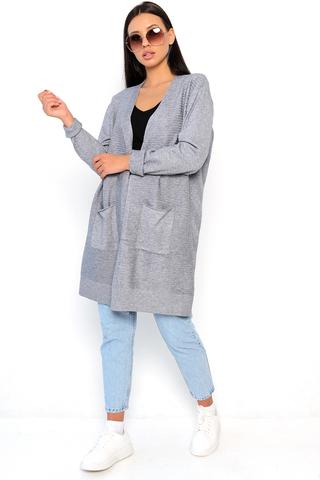 <p>Модный трикотажный кардиган на все случаи жизни. Незаменимая вещь в гардеробе каждой дамы.&nbsp;</p> <p>Единый размер: 46-56</p>