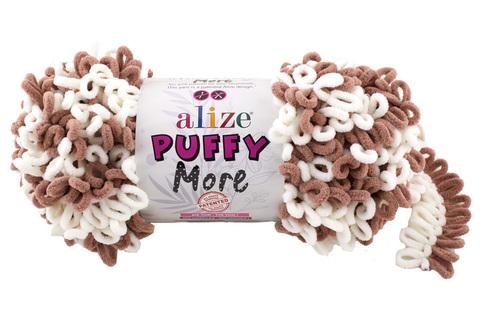 Купить Пряжа Пуффи Море цвет 6261 белый-какао | Интернет-магазин пряжи «Пряха»