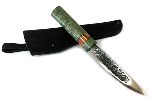 Нож Якутский, кованая Х12МФ, стабилизированная карельская береза