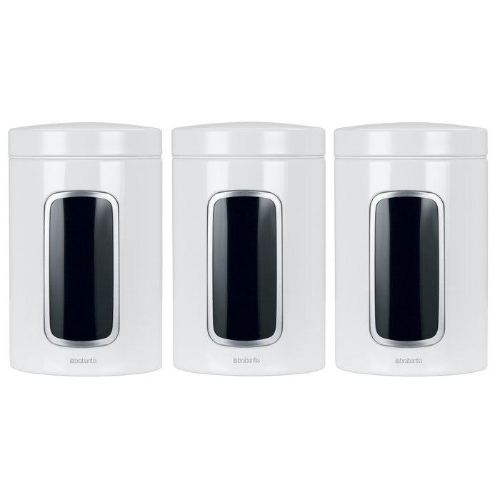 Набор контейнеров для сыпучих продуктов с окном (1,4 л), 3 шт., Белый, артикул 151224, производитель - Brabantia