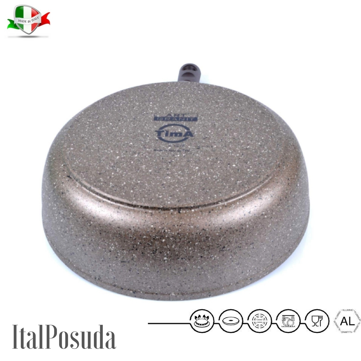 Сотейник со съёмной ручкой TIMA Art Granit индукционный, 26 см www.Ital-Posuda.ru