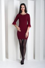 Дінара. Сукня з красивим рукавом. Бордо