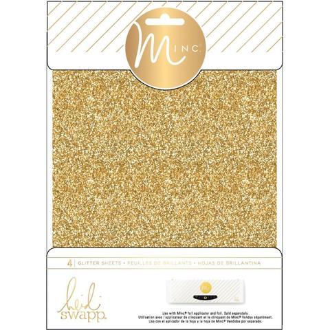 Фольга с глиттером для фольгирования Heidi Swapp Minc Glitter Sheets- Gold