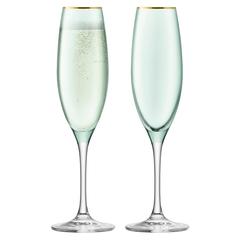 Набор из 2 бокалов флейт для шампанского Sorbet, 225 мл, зелёный, фото 1