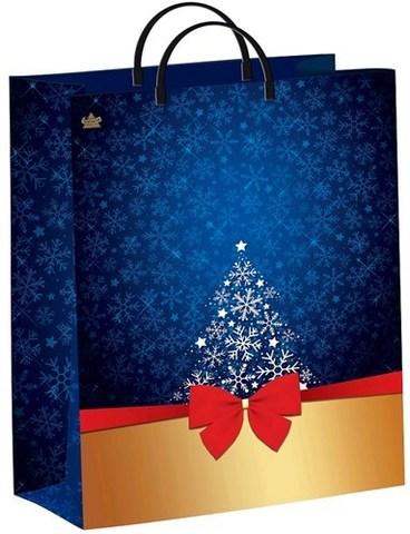 Подарочные пакеты 30х40+10 Т из мягкого пластика (Золотой презент)
