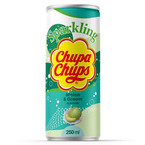 Газированный напиток Chupa Chups Melon Cream со вкусом дыни, 250 мл