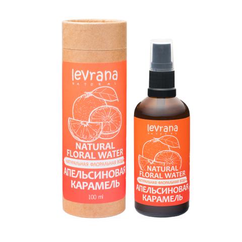 Натуральная флоральная вода для лица и тела. Апельсиновая карамель, 100 мл.