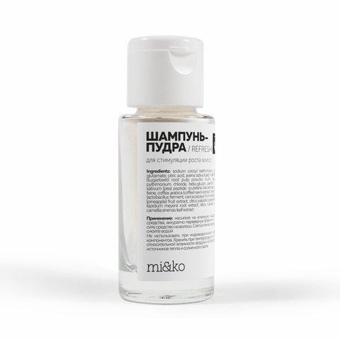 Шампунь-пудра Refresh для активирования роста волос Zero Waste 30 мл