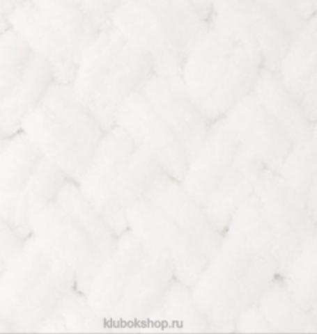Пряжа Puffy Alize 55 Белый - толстая бархатистая пряжа для вязания руками. Купить в интернет-магазине недорого klubokshop.ru
