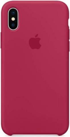 Чехол силиконовый для iPhone XS Max (Красная роза)