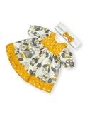 Платье хлопковое - Желтый. Одежда для кукол, пупсов и мягких игрушек.