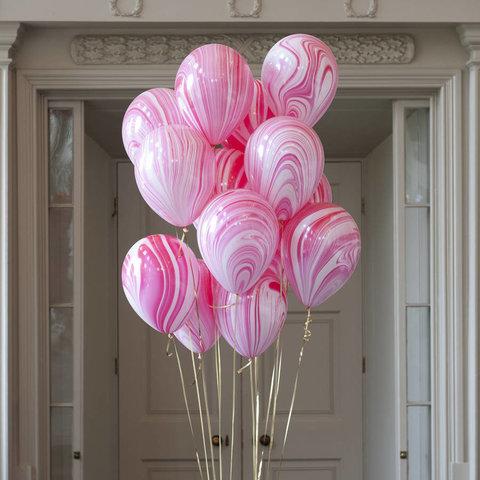 Воздушные шары агат розовый