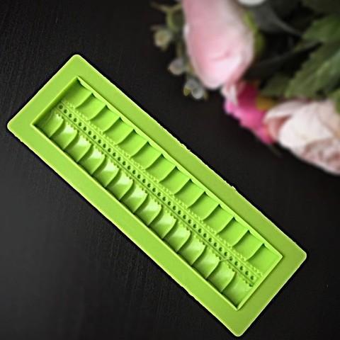 Молд силиконовый Молд ОБОРКА (зеленый силикон) ( 16*4см)