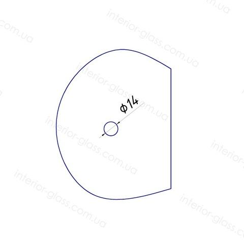 Соединитель труба-стекло ST-304 BLK чёрный матовый