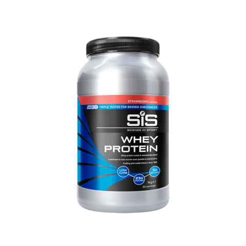 SIS Whey Protein Powder Напиток протеиновый в порошке, вкус Клубника, 1 кг.