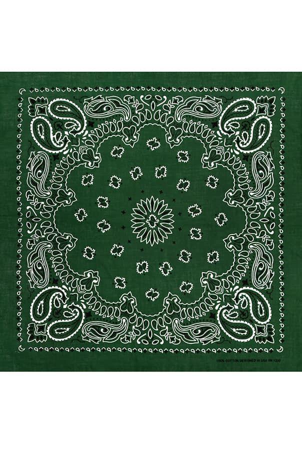 Бандана темно-зеленая фото
