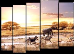 """Модульная картина """"Животные Африки"""""""
