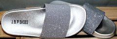 Шлепки летние J.B.P. Shoes Nu1213 Silver.