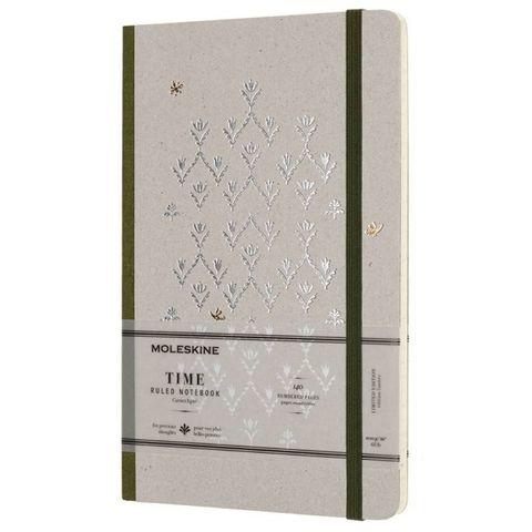 Блокнот Moleskine Limited Edition TIME NOTEBOOKS LCTM31K Large 130х210мм обложка картон 140стр. линейка зеленый