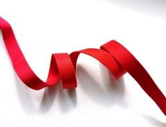 _Бретелечная резинка, без фестонов, 15мм, красная, (Арт: BR640/15-100), м