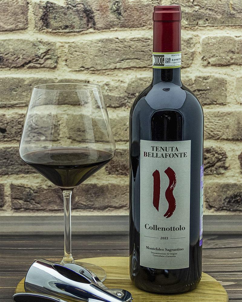 Вино Bellafonte Монтефалько Сагрантино Колленоттоло Красное Сухое 14,5% 0,75л.