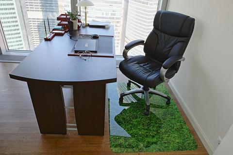 Коврик под кресло с рисунком 900x1200 мм «газон»