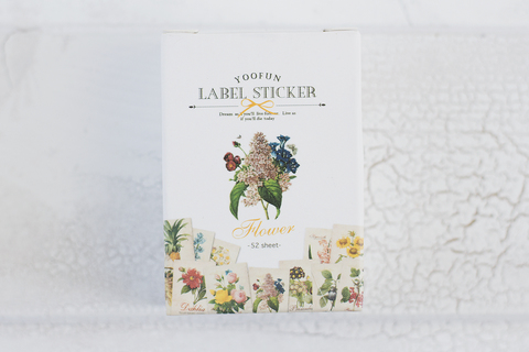 Набор наклеек Label Sticker Flower