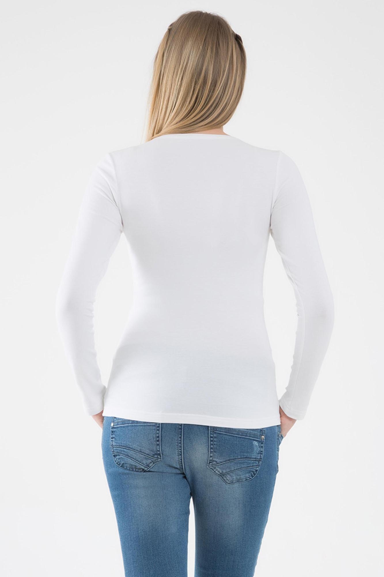 Лонгслив для беременных 07012 белый